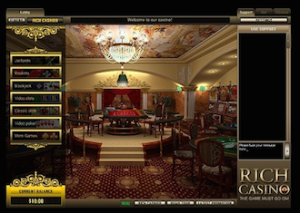 Online casino screenshot